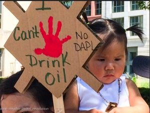 "CC-BY-NC-ND by Anne Meador @ Cool Revolution ""I Can't Drink Oil No DAPL"""
