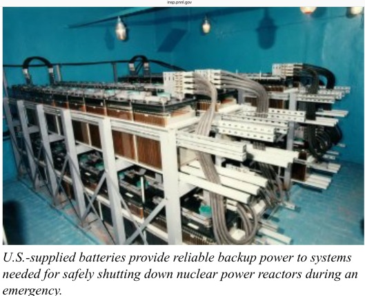 Backup power batteries for Nuclear Power Station ca 1999 US DOE