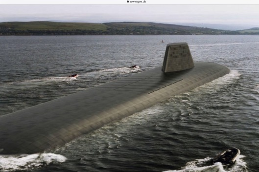 Impression of how new nuclear subs may look UK Crown Copyright