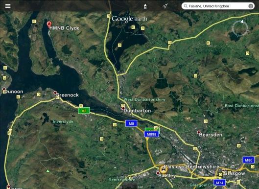 Paisley Faslane Glasgow mpa