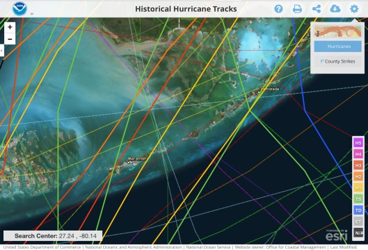 1935 Labor Day Hurricane Fla Keys Purple Line
