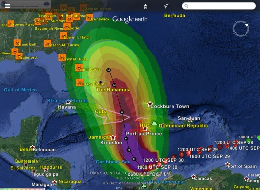Hurricane Matthew 1 Oct. 2016 0600 UTC with NPS