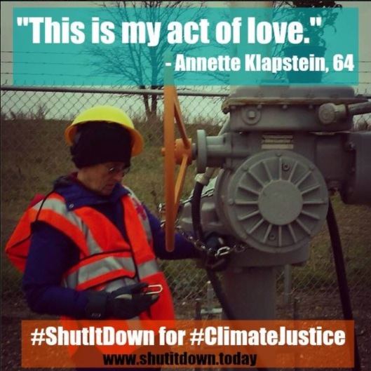 This is my act of love Annette Klapstein 64 Shutdown for Climate Justice