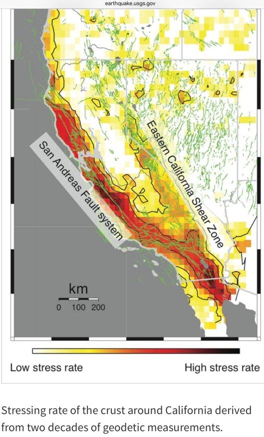 USGS Stress Buildup California