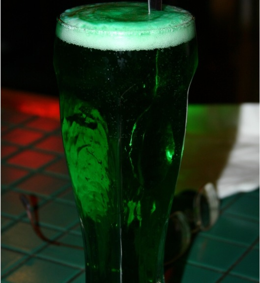 Green beer on St. Patrick's Day, CC-BY SpaceAgeSage, croppsed