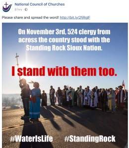 "National Council of Churches Standing Rock ""I Stand with them too"""