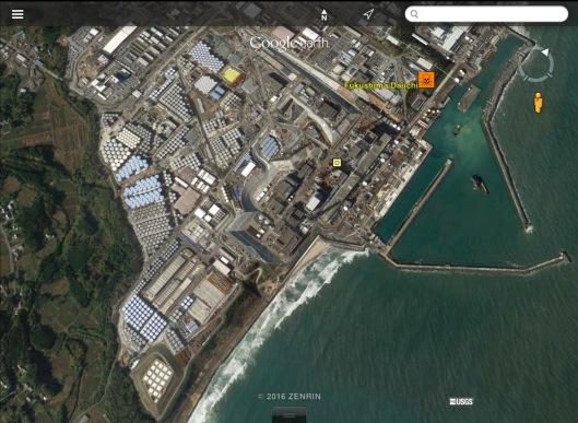 Fukushima radioactive water birds eye
