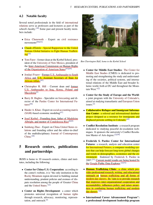 Josef Korbel School of International Studies, Wikipedia CC p. 4