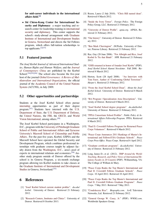 Josef Korbel School of International Studies, Wikipedia CC p. 5