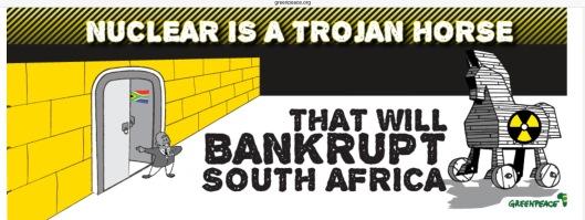 Greenpeace South Africa Nuclear Trojan Horse