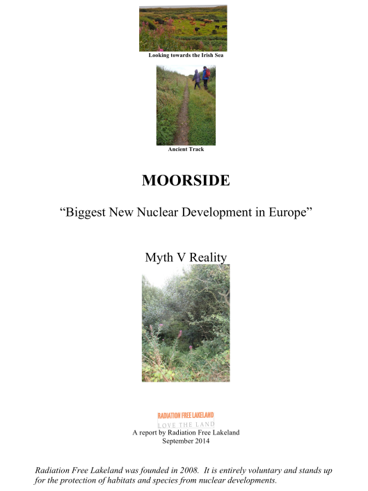 "Moorside, ""Biggest New Nuclear Development in Europe"", Myth vs. Reality RAFL, p. 1"