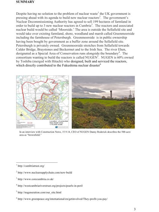 "Moorside, ""Biggest New Nuclear Development in Europe"", Myth vs. Reality RAFL, p. 3"