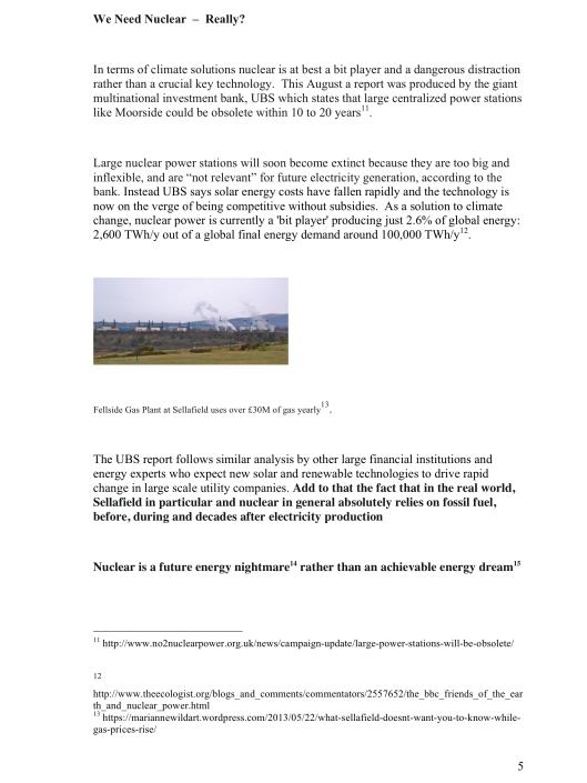 "Moorside, ""Biggest New Nuclear Development in Europe"", Myth vs. Reality RAFL, p. 5"