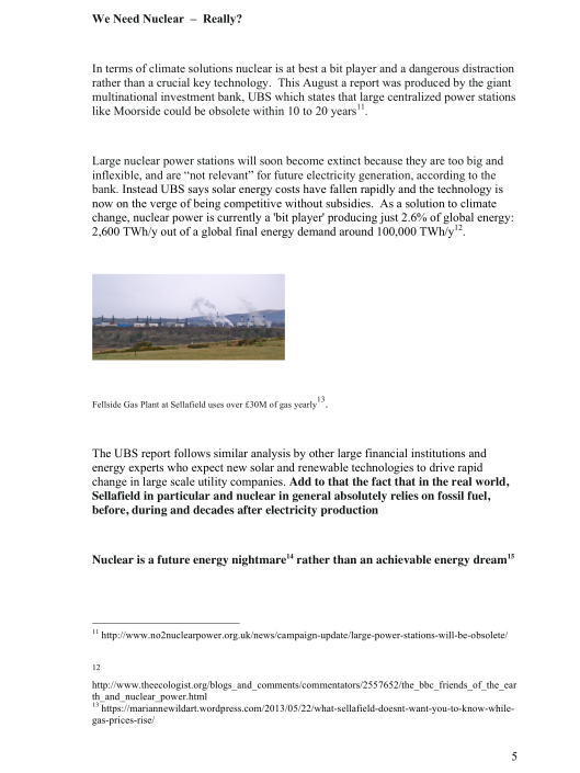 "Moorside, ""Biggest New Nuclear Development in Europe"", Myth vs. Reality RAFL, p. 5"