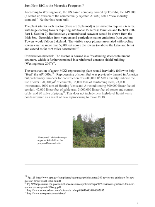 "Moorside, ""Biggest New Nuclear Development in Europe"", Myth vs. Reality RAFL, p. 8"