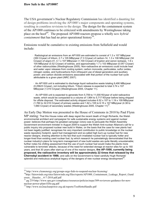 "Moorside, ""Biggest New Nuclear Development in Europe"", Myth vs. Reality RAFL, p. 9"