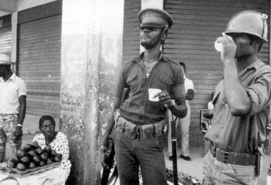 Macoutes from the Duvalier era. Defying widespread opposition and the pressing need for other development projects, Haitian President Michel Martelly is pressing ahead with a plan to recreate Haiti's military, which has a dark legacy of repression in the Caribbean country.