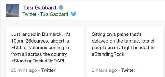 Tulsi Gabbard ND Standing Rock Vets Tweets