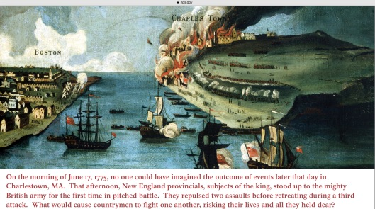 Boston Charles town 1775 revolutionary war