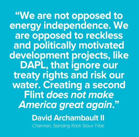 Dave Archambault statement re DAPL another Flint