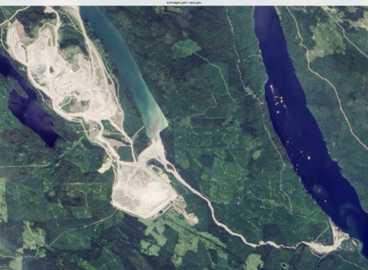 Mt. Polley mining disaster tailings dam failure NASA 2014