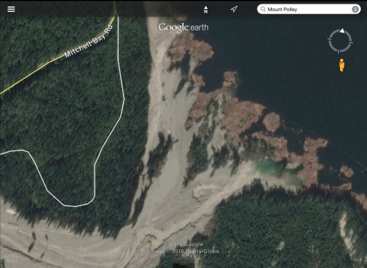 Mt. Polley tailings dam failure BC Google zoom