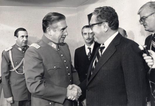 Kissinger and Pinochet, 1976, Ministerio de Relaciones Exteriores de Chile Creative Commons via Wikipedia