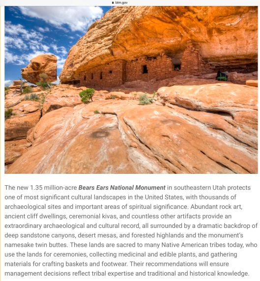 Bear Ears Monument BLM gov