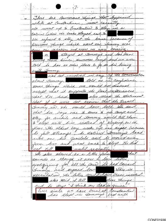 Tommy Speed Boy Scouts pedophiles testimony, p. 7