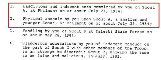 Philmont Boy Scout perversion files  High ham