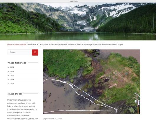 Montana Yellowstone oil spill