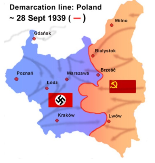28 Sept. 1939 Nazis and USSR-Russia Take Poland