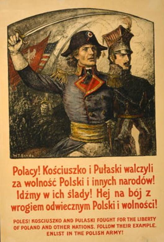 Pulaski and Kosciusko WWI Poster
