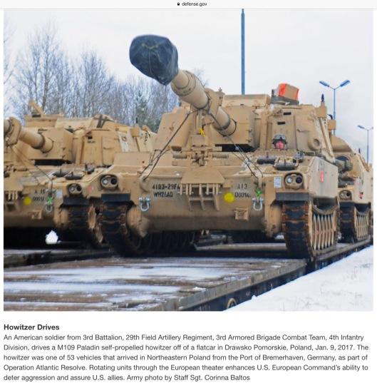 US Tanks in Poland January 2017