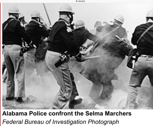 Alabama Police attack Selma marchers 1965