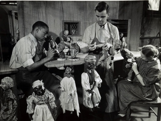 Marionette makers in Washington, D.C., between 1935 and 1939. Photograph. Federal Theatre Project Collection, Music Division, Library of Congress (085.00.00)