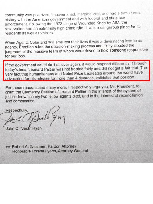 January 3, 2017 Letter of former FBI agent John C. Ryan , p. 2