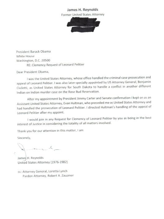 December 21, 2016 Letter of former U.S. Attorney James Reynolds