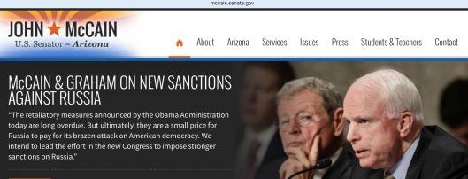 Sen. McCain Russia Sanctions