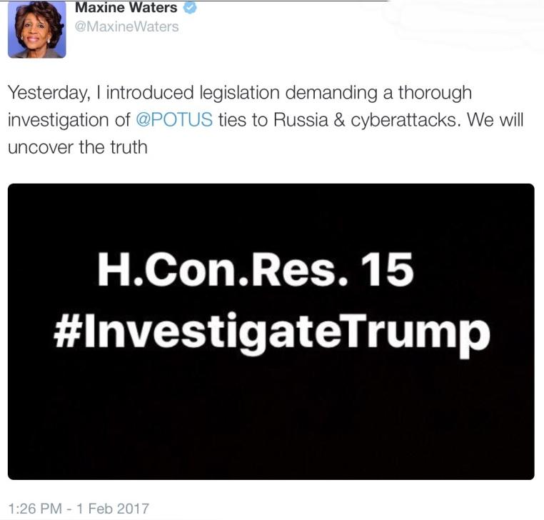 House Congressional Resolution 15 #Investigate Trump