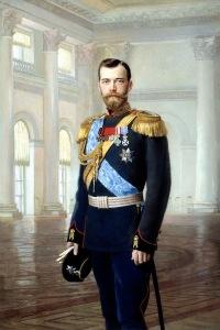 Nicholas II, last Russian Tsar Portrait by Earnest Lipgart, early 1900s.