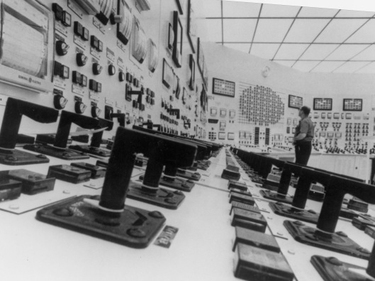 US DOE HD.6D.125 Central Control room of Quad-Cities nuclear power plant at Cordova, Illinois.