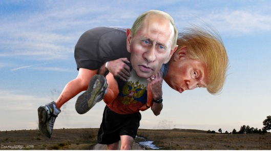 Putin Carrying Trump Donkey Hotey Creative Commons BY-SA