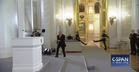 Putin Goose-step not in sync C-Span 1 Dec, 2016