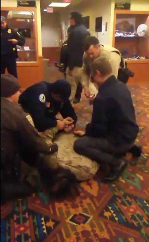 Madrigal-Alcaraz Enrique Kurthland  video of Standing Rock Casino Taser Arrest