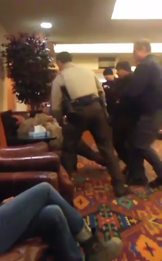 Madrigal-Alcaraz Enrique Kurthland  video Standing Rock Casino Tasered American Indian falls to chair