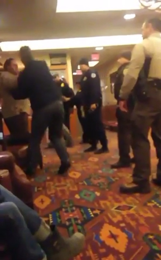 Madrigal-Alcaraz Enrique Kurthland Video Standing Rock Casino American Indian police grab arm B