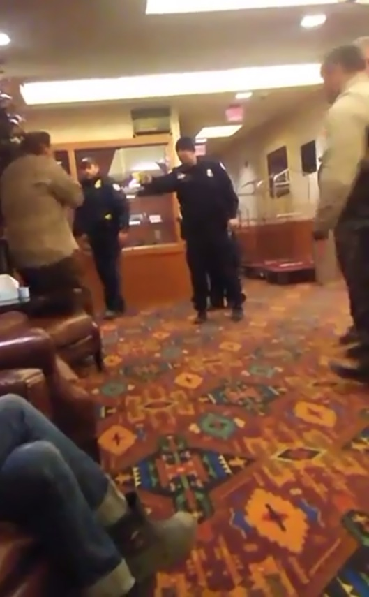 Madrigal-Alcaraz Enrique Kurthland  video Standing Rock Casino American Indian Tasered by police for no reason