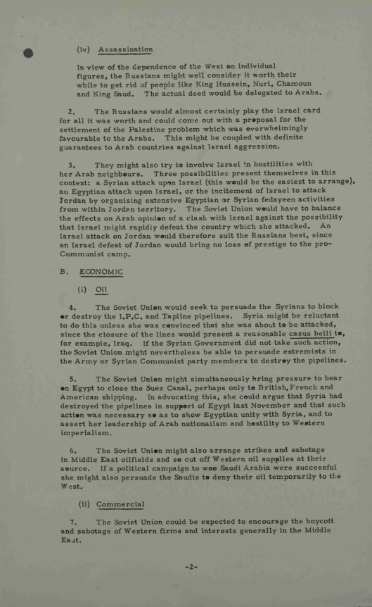 19 Sept. 1957 Possible Soviet reactions to United States policy on Syria UK Gov CAB 301/148 Annexe B  p. 2