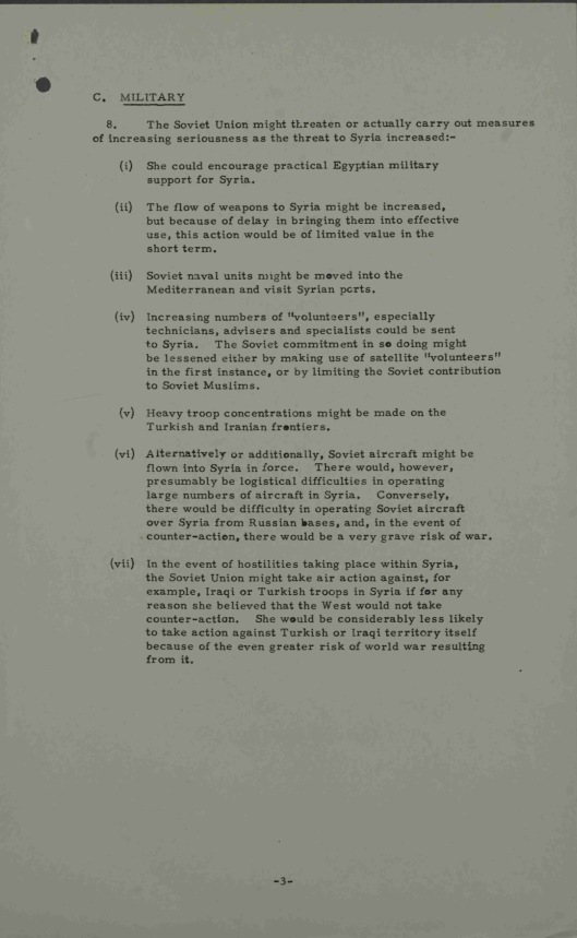 19 Sept. 1957 Possible Soviet reactions to United States policy on Syria UK Gov CAB 301/148 Annexe B  p. 3